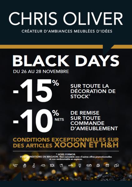Black Days : 26, 27 et 28/11