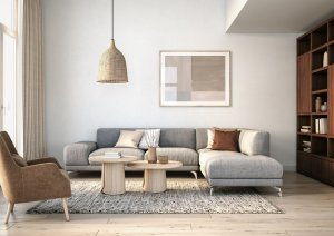 décoration salon bois